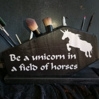 Be a Unicorn in a field of horses - coffin organizer
