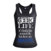 GEEK LIFE its kinda like normal life but there are DRAGONS - Hers RACERBACK