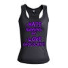 I hate running but i love chocolate - HERS RACERBACK