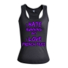 I hate running but i love french fries VNECK- HERS RACERBACK