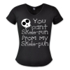 You cant skele-run from my skele-pun - V-Neck